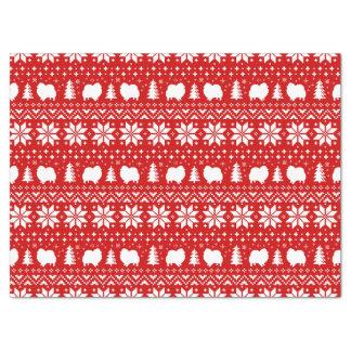 Pomeranian Silhouettes Christmas Pattern Tissue Paper