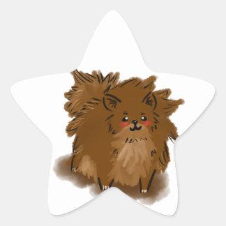 Pomeranian Star Sticker