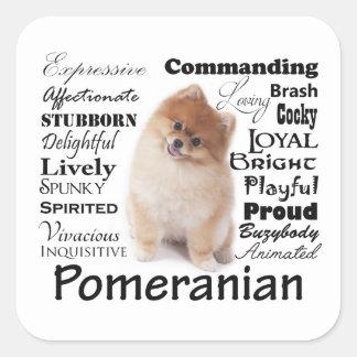 Pomeranian Traits Stickers