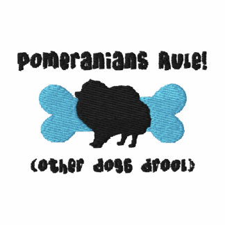 Pomeranians Rule Embroidered Shirt (T-Shirt)
