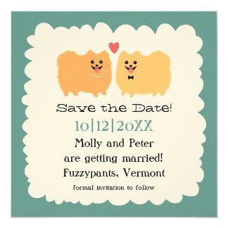 Pomeranians Wedding Save the Date Announcement