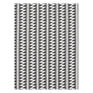 Pomo Indian Zig Zag Black White Triangle Pattern Tablecloth