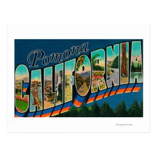 Pomona, California - Large Letter Scenes Postcard