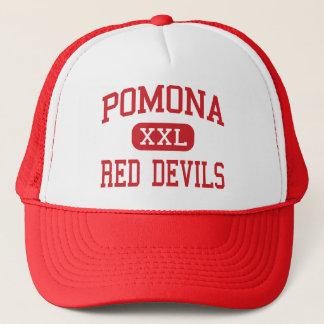 Pomona - Red Devils - High - Pomona California Trucker Hat