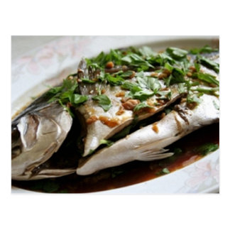 Pompano with Dill Sauce Recipe Postcard