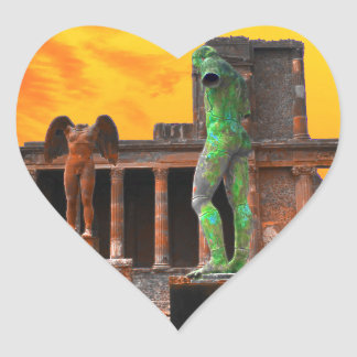 Pompei Italy Heart Sticker