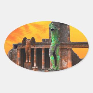 Pompei Italy Oval Sticker