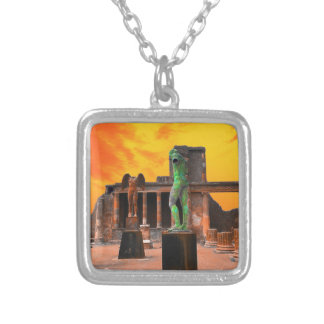 Pompei Italy Silver Plated Necklace