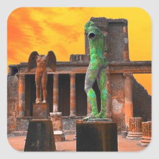 Pompei Italy Square Sticker