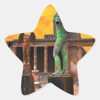Pompei Italy Star Sticker
