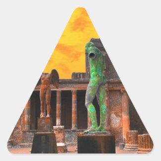 Pompei Italy Triangle Sticker