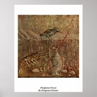 Pompeian Fresco By Pompeian Painter Poster