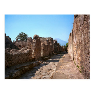 Pompeii, Cobbled street with high sidewalk Postcard