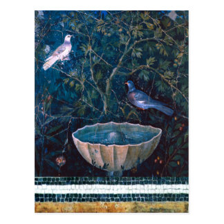 POMPEII COLLECTION / DOVES IN THE GARDEN POSTCARD