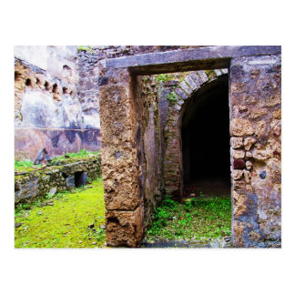 Pompeii - Entrance Door to a Ruins of a House Postcard