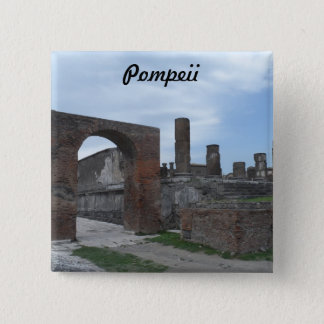 Pompeii, Italy 2 Inch Square Button