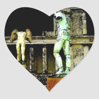 Pompeii Italy Heart Sticker