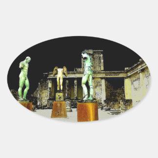 Pompeii Italy Oval Sticker
