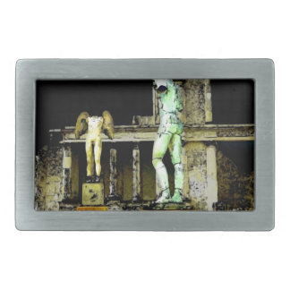 Pompeii Italy Rectangular Belt Buckles