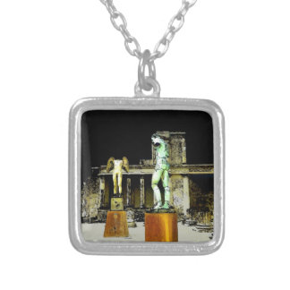Pompeii Italy Silver Plated Necklace