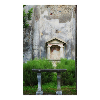 Pompeii, Italy - TEMPLE IN A GARDEN Poster