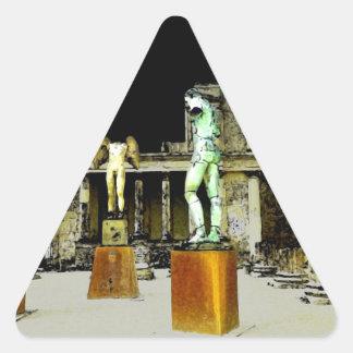 Pompeii Italy Triangle Sticker