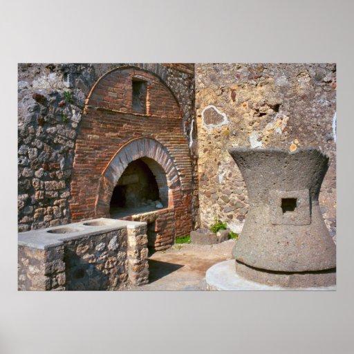 Pompeii, magasin de boulangerie posters