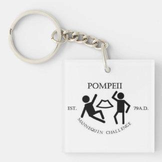 Pompeii Mannequin Challenge Keychain