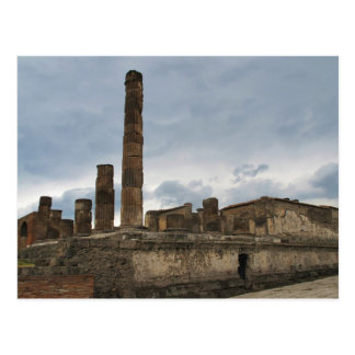Pompeii - The remaining columns of ancient temple Postcard