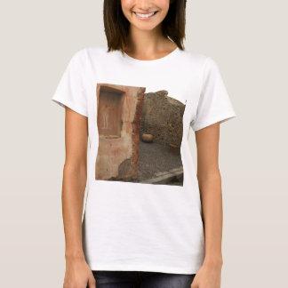 Pompeii - Wall lararium - Painting in  Niche T-Shirt