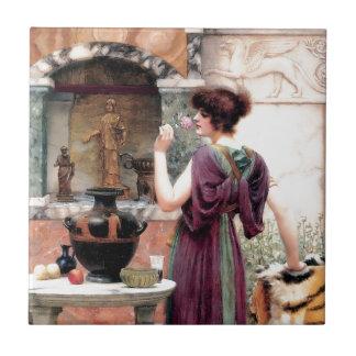 Pompeii Woman Godward garden Tile