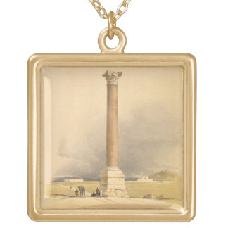 """Pompey's Pillar, Alexandria, from """"Egypt and Nubia Gold Plated Necklace"""