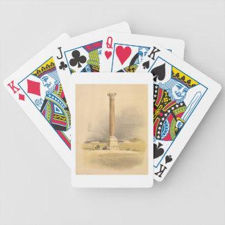 "Pompey's Pillar, Alexandria, from ""Egypt and Nubia Poker Deck"