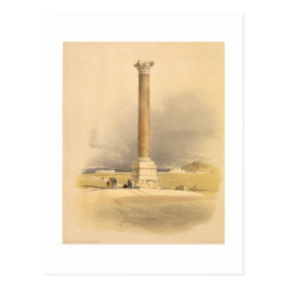 "Pompey's Pillar, Alexandria, from ""Egypt and Nubia Postcard"