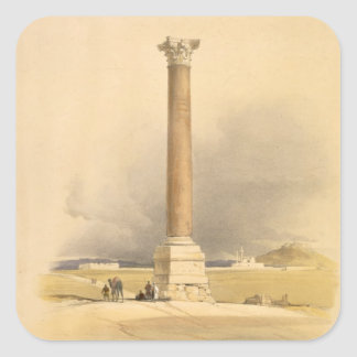 """Pompey's Pillar, Alexandria, from """"Egypt and Nubia Square Sticker"""