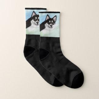 Pomsky Dog Stretch Crew Socks