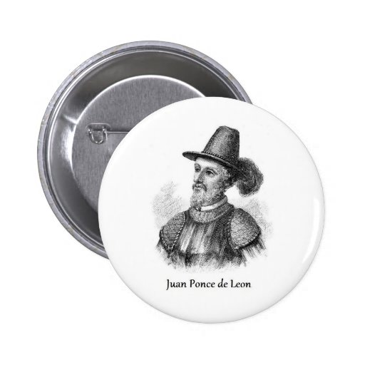 Ponce de Leon and the Fountain of Youth Buttons