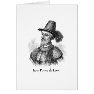 Ponce de Leon and the Fountain of Youth Greeting Card