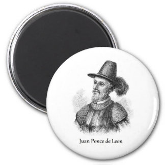 Ponce de Leon and the Fountain of Youth 2 Inch Round Magnet
