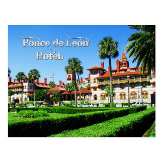 Ponce de Leon Hotel, St. Augustine, Florida Postcard