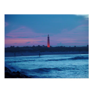 Ponce de Leon Inlet Lighthouse Dusk Postcard