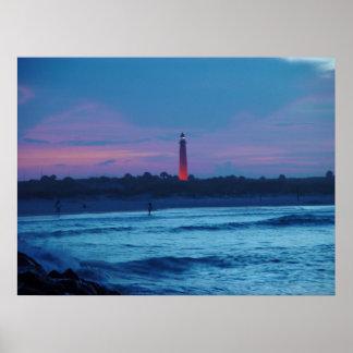 Ponce de Leon Inlet Lighthouse Dusk Poster