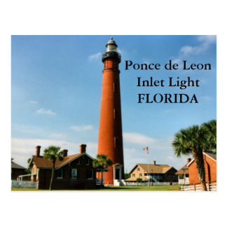 Ponce de Leon Inlet Lighthouse, Florida Postcard