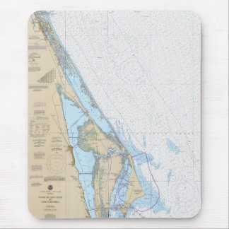 Ponce de Leon Inlet to Cape Canaveral FL Chart Mouse Pad