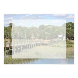 "Ponce de Leon park in Florida dock 5"" X 7"" Invitation Card"