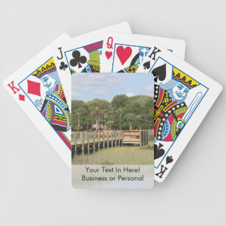 Ponce de Leon park in Florida dock Bicycle Poker Cards