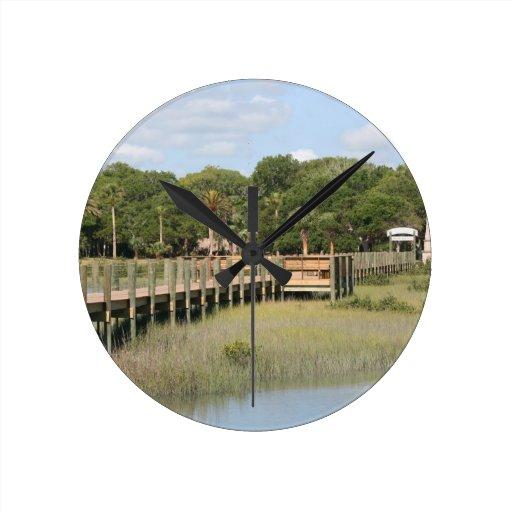Ponce de Leon park in Florida dock Wallclock