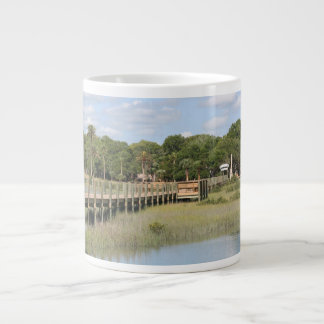 Ponce de Leon park in Florida dock Jumbo Mug