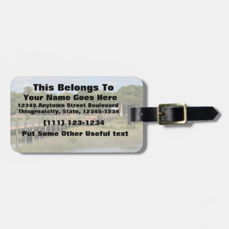 Ponce de Leon park in Florida dock Luggage Tags