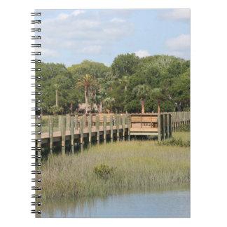 Ponce de Leon park in Florida dock Spiral Notebook